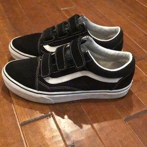 Black Velcro Vans